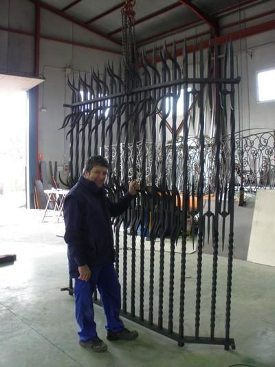 Vallas de forja metalisteria vulcano forja art stica trabajos en forja - Vallas de forja ...
